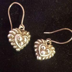 Judith Ripka Heart Earrings Sterling silver